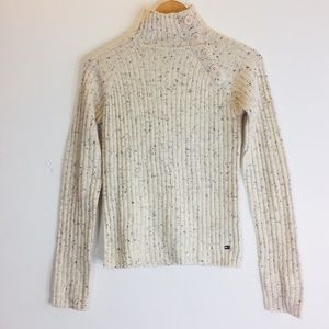 Tommy Hilfiger Cream Speckled Turtleneck